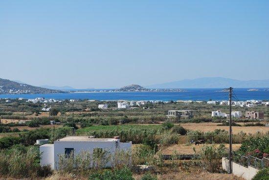 Naxos Kalimera Hotel: View from balcony to S.W.