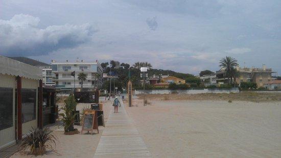 Best Western Hotel Mediterraneo : Weg vom Strand zum Hotel