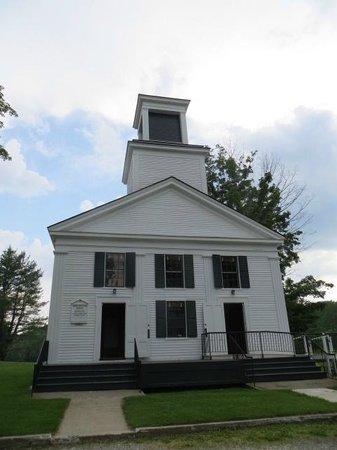 Calvin Coolidge Homestead: church across the street from homesead