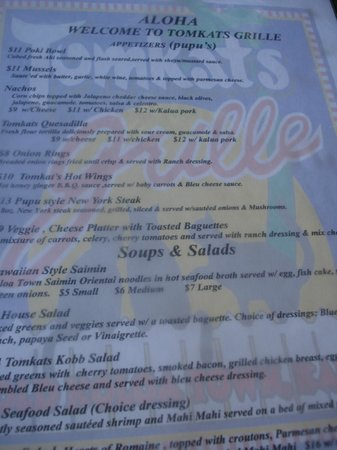Tomkats Grille: Choices, choices.