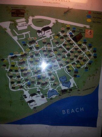 Centara Villas Samui: Resort map