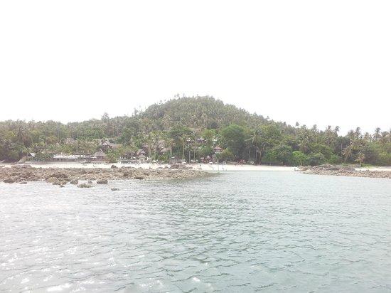 Centara Villas Samui: View of the resort from a kayak