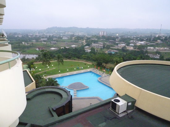 Franceville, Gabon: sweeming pool at Leconi Hotel