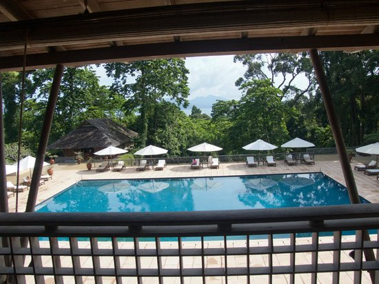The Datai Langkawi: Main Pool from Lobby Lounge