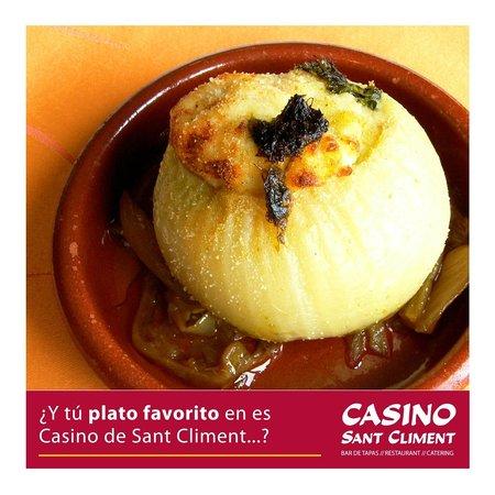 Casino Sant Climent: Cebolla rellena de pescado