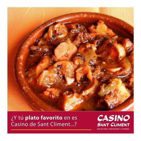 Casino Sant Climent: Pulpo encebollado