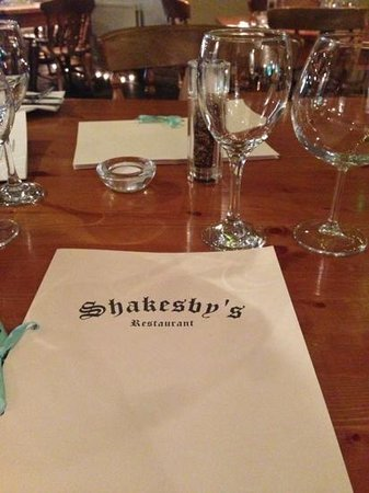 Shakesby's: Sat at the table