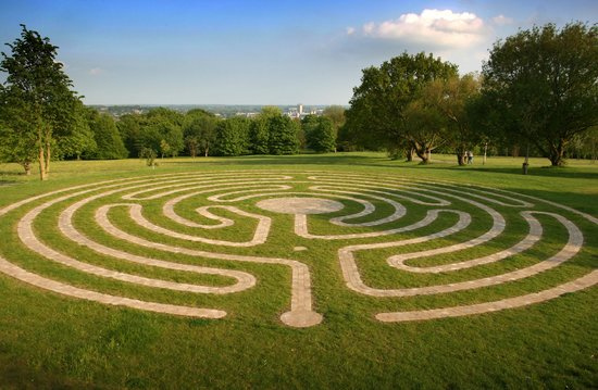 University Of Kent - Turing College: labyrinth behind Eliot College