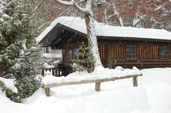 Rustic Log Cabins: Cabin 1 in Winter