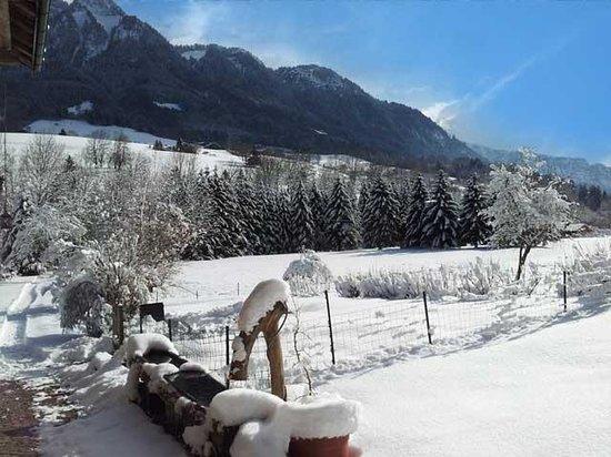 Ferme Du Grand Essert: La vue en hiver