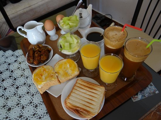 Nectarios Villa : breakfast