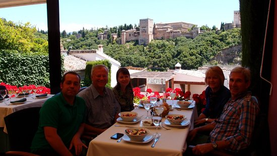 South Ole Spain Tours - Day Tours : Lunch with a view of the Alhambra Palace, Granada