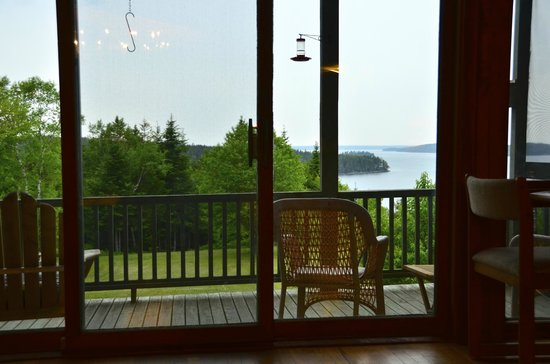 Bluff House Inn : Looking out from common room over front porch.