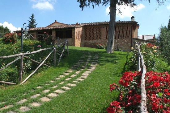 Terrazza e giardino/Terrace and garden - Picture of Fattoria Poggio ...