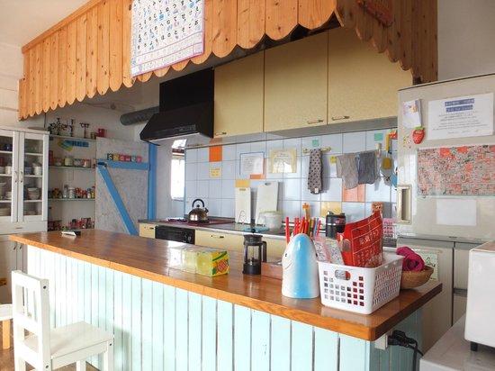 Sora House: 共同キッチン、綺麗でした