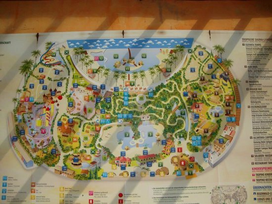 Map Of The Two Parks Fotograf A De Tropical Islands
