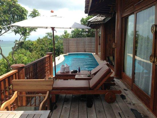 Santhiya Koh Yao Yai Resort & Spa : piscine de la villa