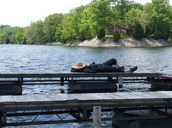 Creal Springs, IL: my wife tired after fishing