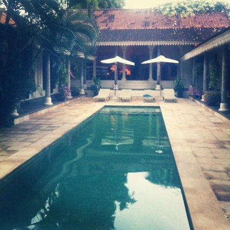 Villa Tandeg: The swimming pool and view of the villa