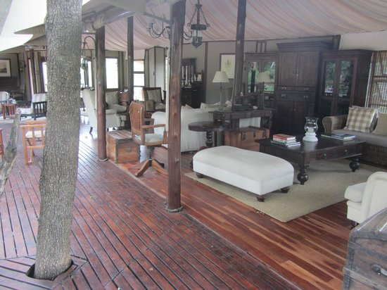 Hamiltons Tented Safari Camp: reception/dining area