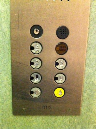 Hotel La Pergola: Pulsantiera ascensore (non recentissima ;)