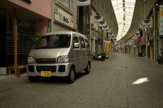 HTS Guesthouse Onomichi: Hero Travel Support - Picking up the Van
