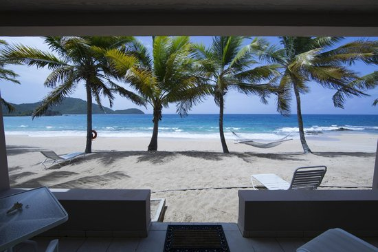 Curtain Bluff Resort: view from our room