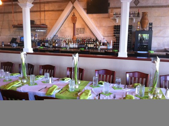 Aegean Greek Restaurant Table setting for wedding reception at Aegean & Table setting for wedding reception at Aegean - Picture of Aegean ...