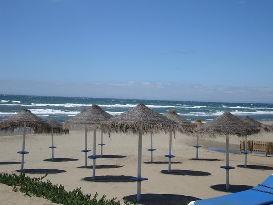 Marbella Beach Resort: Beach from Le Papillon (nearest restaurant)