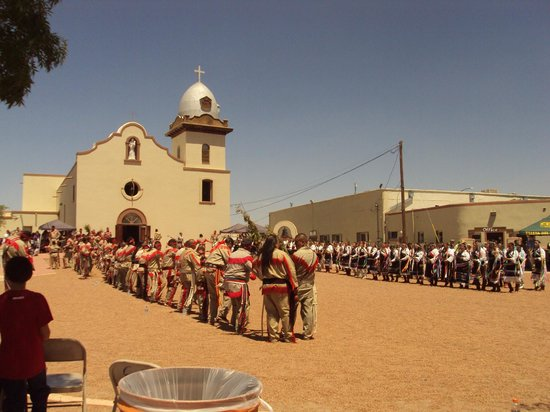 El Paso, TX: The Tigua tribe built this church centuries ago.