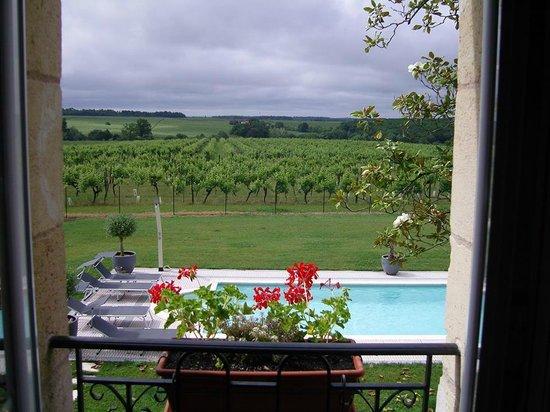 Domaine du Mayne: Uitzicht vanuit onze kamer