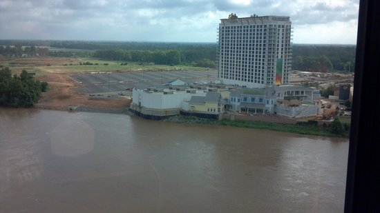 Sam's Town Hotel and Casino Shreveport: View across the River to new Construction