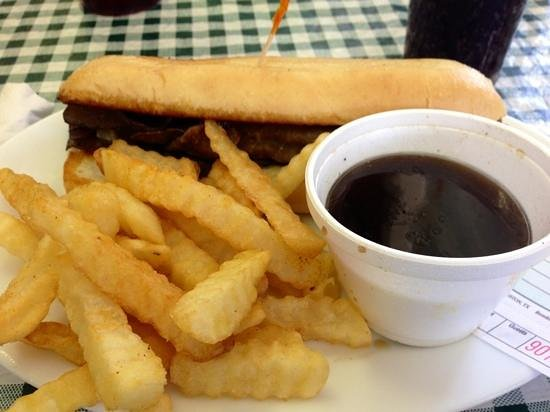 Old School Cafe: French Dip and Seasoned Fries