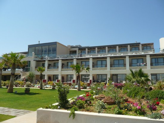SENSIMAR KALLISTON Resort & Spa by ATLANTICA: Looking at hotel from the beach