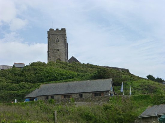 Wembury Beach: seashore centre and church