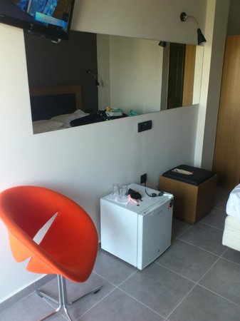 Amphitryon Boutique Hotel: the fridge was just there...not in a cupboard