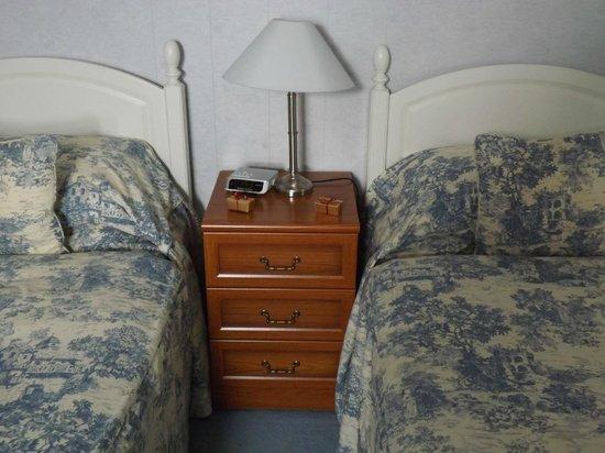 Bryn Derwen: The bedside cabinet with chocolates
