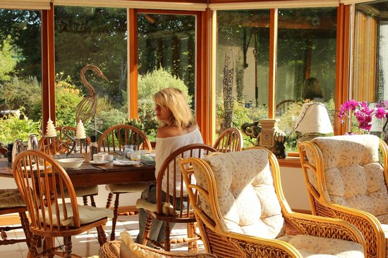 Torview House Bed and Breakfast: Warm and inviting, breakfast in the conservatory prepared to order.