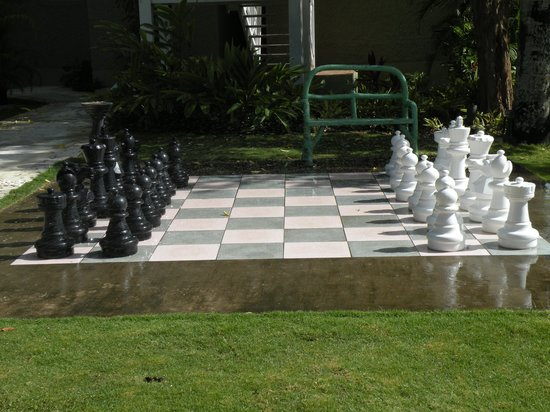Sandals Ochi Beach Resort Lifesize Chess Board