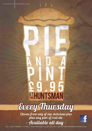 The Huntsman: Pie and a Pint Thursdays