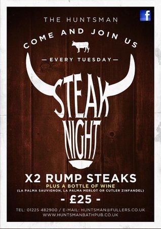 The Huntsman: Steak Tuesdays
