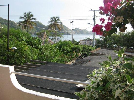 Hotel Casa D'mer Taganga: View from the balcony of Hotel Casa D'mer