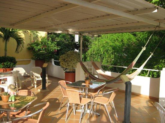 Hotel Casa D'mer Taganga: Breakfast balcony area