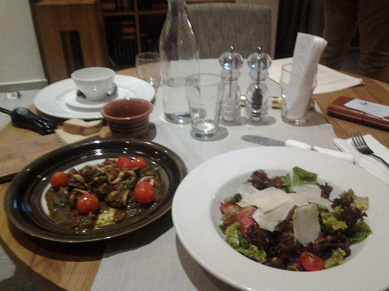 Coco-Mat Hotel Nafsika: Calamar with pesto