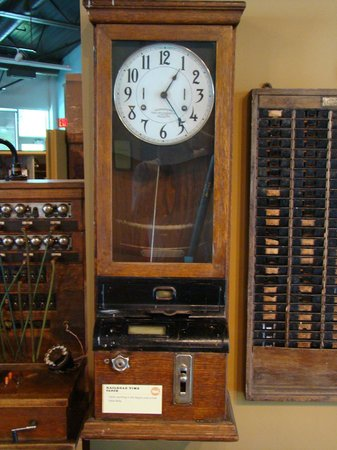 Alliance, NE: Original Railroad Time Clock at the Knight Museum and Sandhills Center.