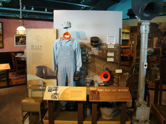 Railroad memorabilia at the Knight Museum and Sandhills Center.