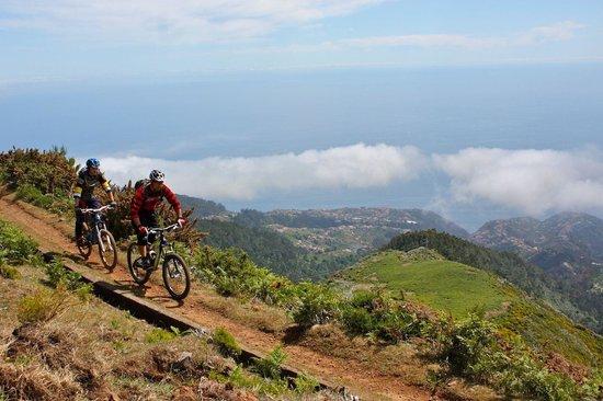 Bikulture: Along a levada, overlooking the South coast