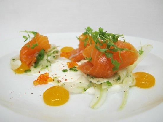 Restaurant Laloux : Truite marinée / Marinated trout