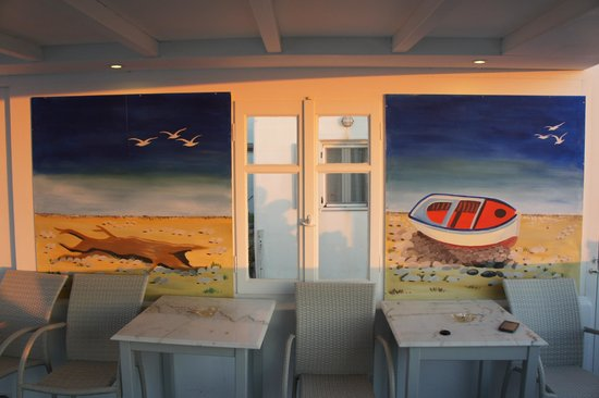 Milena Hotel: i tavolini della terrazza