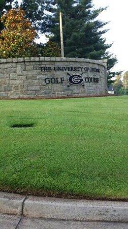 University of Georgia Golf Course: entrance